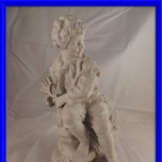 Antigüedades: FIGURA PORCELANA BISCUIT ANTIGUA. Lote 76905143