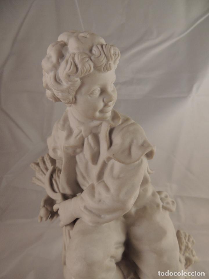 Antigüedades: FIGURA PORCELANA BISCUIT ANTIGUA - Foto 2 - 76905143
