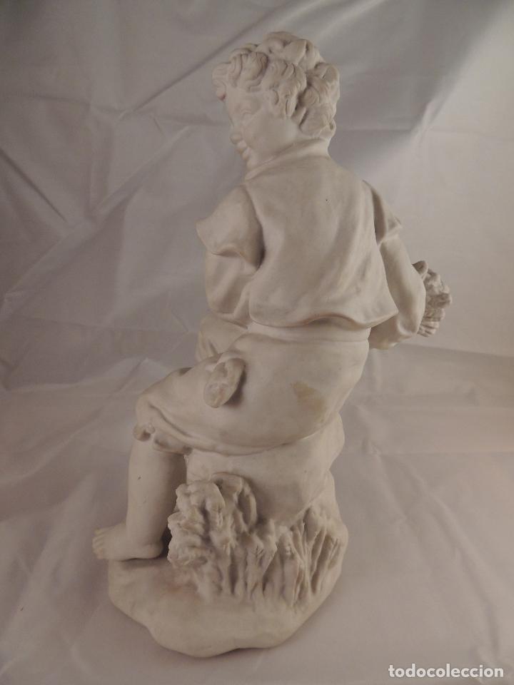 Antigüedades: FIGURA PORCELANA BISCUIT ANTIGUA - Foto 5 - 76905143