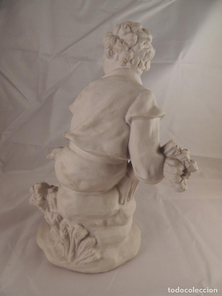 Antigüedades: FIGURA PORCELANA BISCUIT ANTIGUA - Foto 6 - 76905143