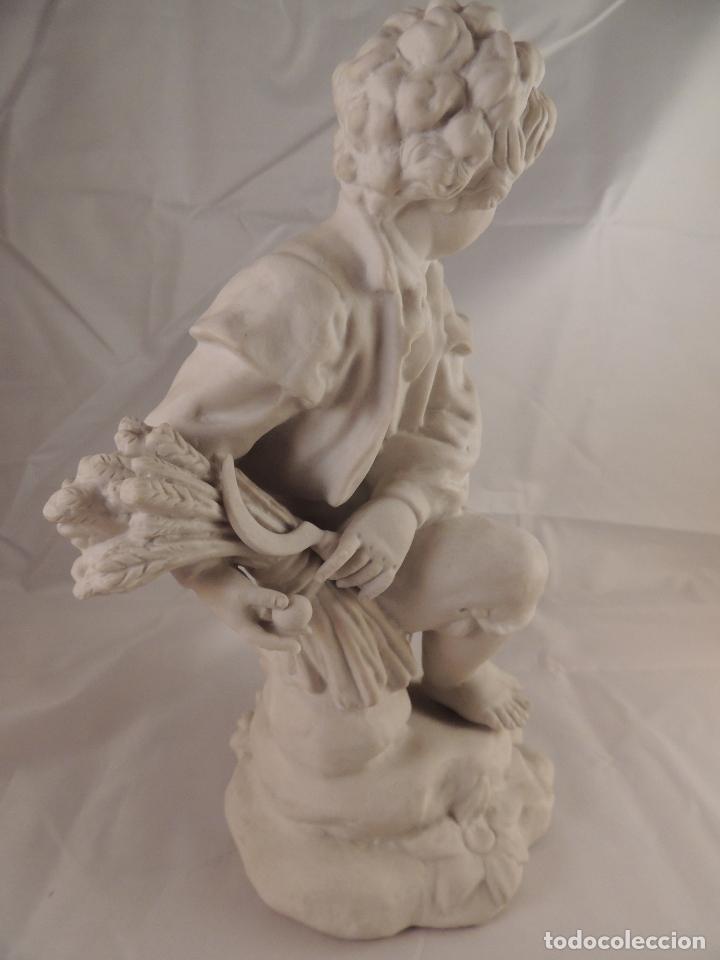 Antigüedades: FIGURA PORCELANA BISCUIT ANTIGUA - Foto 7 - 76905143
