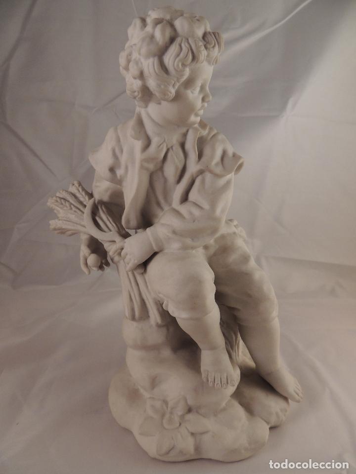 Antigüedades: FIGURA PORCELANA BISCUIT ANTIGUA - Foto 8 - 76905143