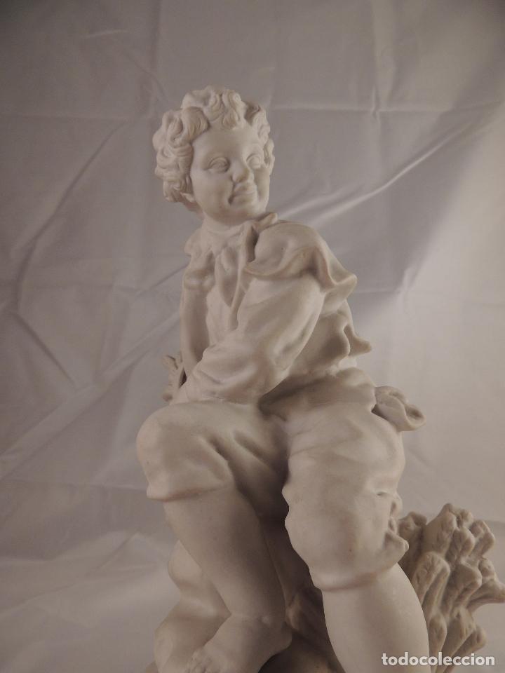 Antigüedades: FIGURA PORCELANA BISCUIT ANTIGUA - Foto 9 - 76905143