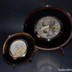 Antigüedades: BONITOS PLATOS ARTE CHOKIN. PLATA Y ORO 24K. PABELLÓN JAPÓN. EXPO´92 SEVILLA (+ REGALO). Lote 76934157