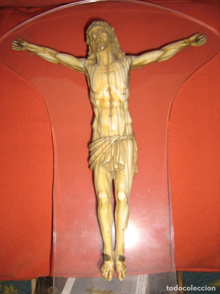 CRISTO DE MARFIL, CERTIFICADO DE GARANTIA GAC. (Antigüedades - Religiosas - Crucifijos Antiguos)