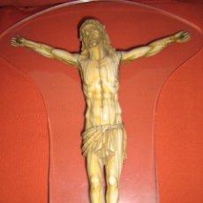 Antigüedades: CRISTO DE MARFIL, CERTIFICADO DE GARANTIA GAC.. Lote 76948041