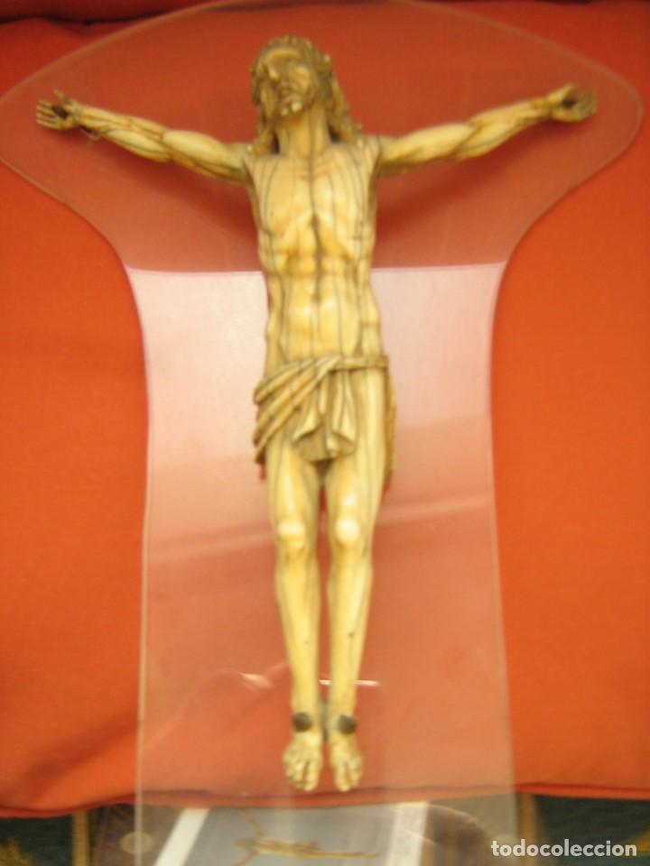 Antigüedades: CRISTO DE MARFIL, CERTIFICADO DE GARANTIA GAC. - Foto 2 - 76948041