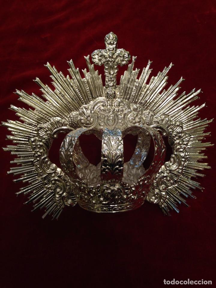 CORONA DE VIRGEN CON BAÑO DE PLATA (NUEVO) 11 CM DE DIÁMETRO. (Antigüedades - Religiosas - Orfebrería Antigua)