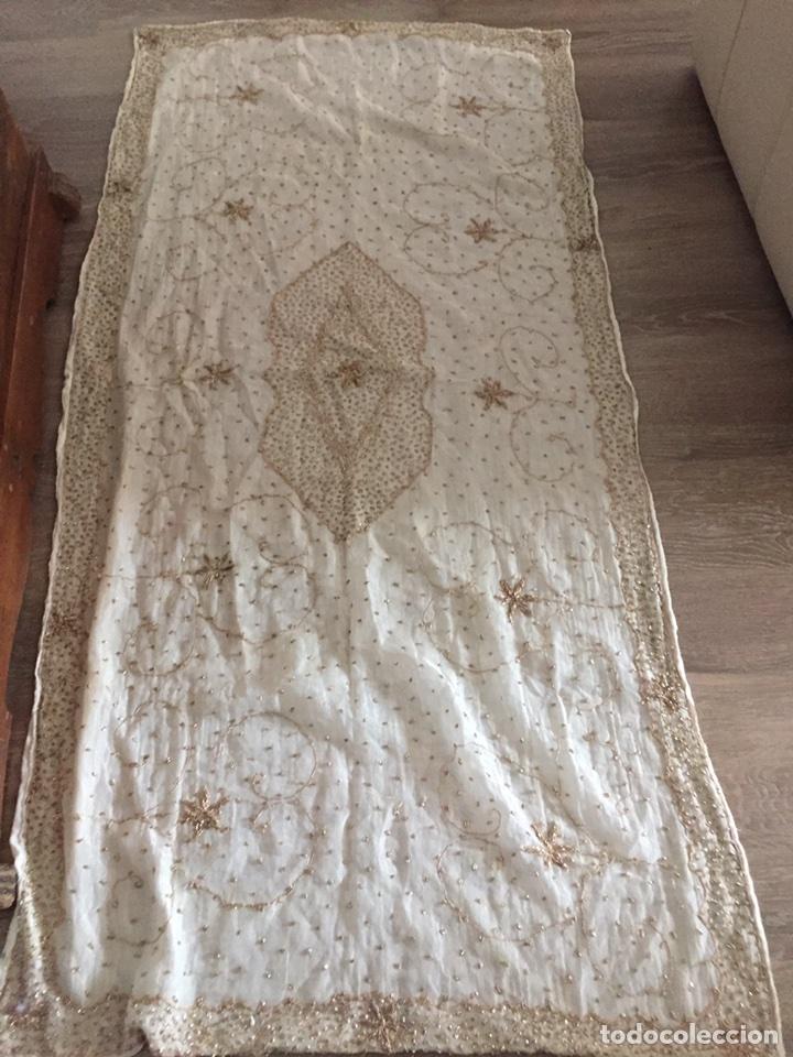 PAÑO BORDADO (Antigüedades - Religiosas - Ornamentos Antiguos)
