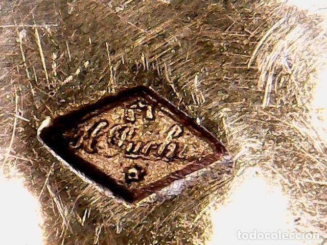 Antigüedades: VIRIL - OSTENSORIO EN CRISTAL Y PLATA SOBREDORADA - CONTRASTE DE PLATERO - S. XIX - Foto 12 - 76972301