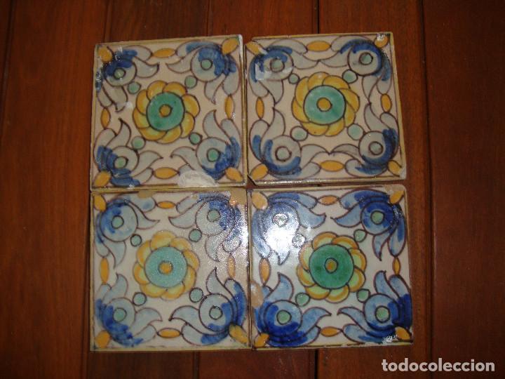 AZULEJOS SIGLO XVIII PINTADOS (Antigüedades - Porcelanas y Cerámicas - Azulejos)