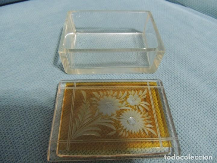 Antigüedades: caja joyero cristal tallado - Foto 2 - 77106721