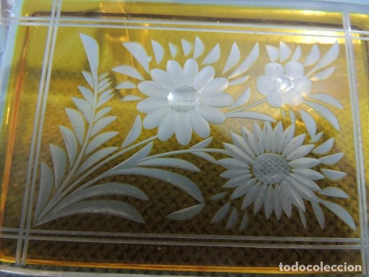 Antigüedades: caja joyero cristal tallado - Foto 3 - 77106721