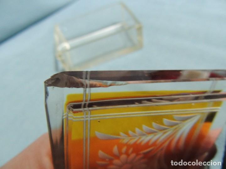 Antigüedades: caja joyero cristal tallado - Foto 4 - 77106721