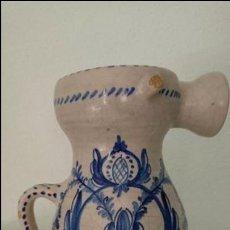 Antigüedades: ANTIGUA JARRA BARRO ESMALTADO. Lote 77112389