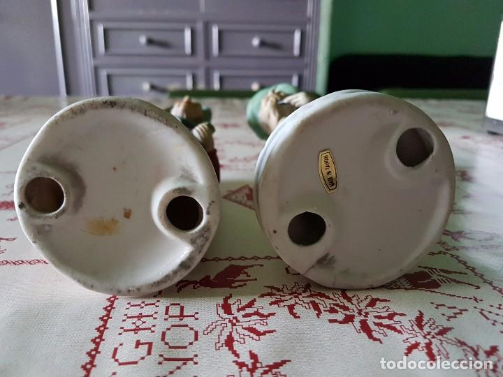 Antigüedades: Figuras de porcelana de taiwan pareja de ancianos 19 × 7 cm - Foto 8 - 77142193