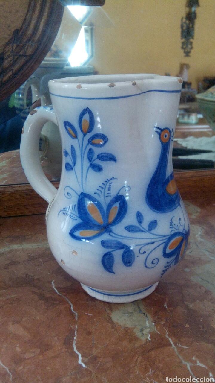 JARRA DE TALAVERA, FINALES DEL XIX. (Antigüedades - Porcelanas y Cerámicas - Talavera)