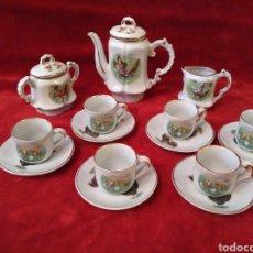 Antigüedades: JUEGO DE CAFÉ DE PORCELANA DEL SIGLO XX. Lote 77207942
