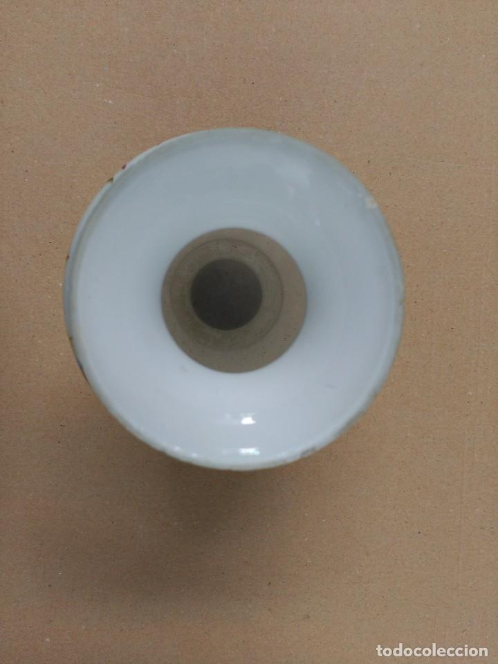 Antigüedades: Jarron de opalina blanca pintado a mano, sXIX - Foto 7 - 77235381