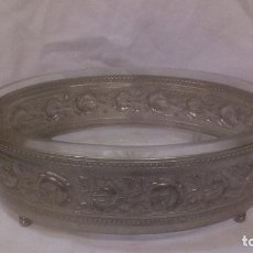 Antigüedades: JARDINERA MODERNISTA PLATEADA Y CRISTAL. Lote 77243145