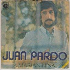 Discos de vinilo: JUAN PARDO / A MARIAN NIÑA / NANA PRA ESPERTAR AS NENIÑAS (SINGLE 1971) CONTIEN LETRAS. Lote 77246665