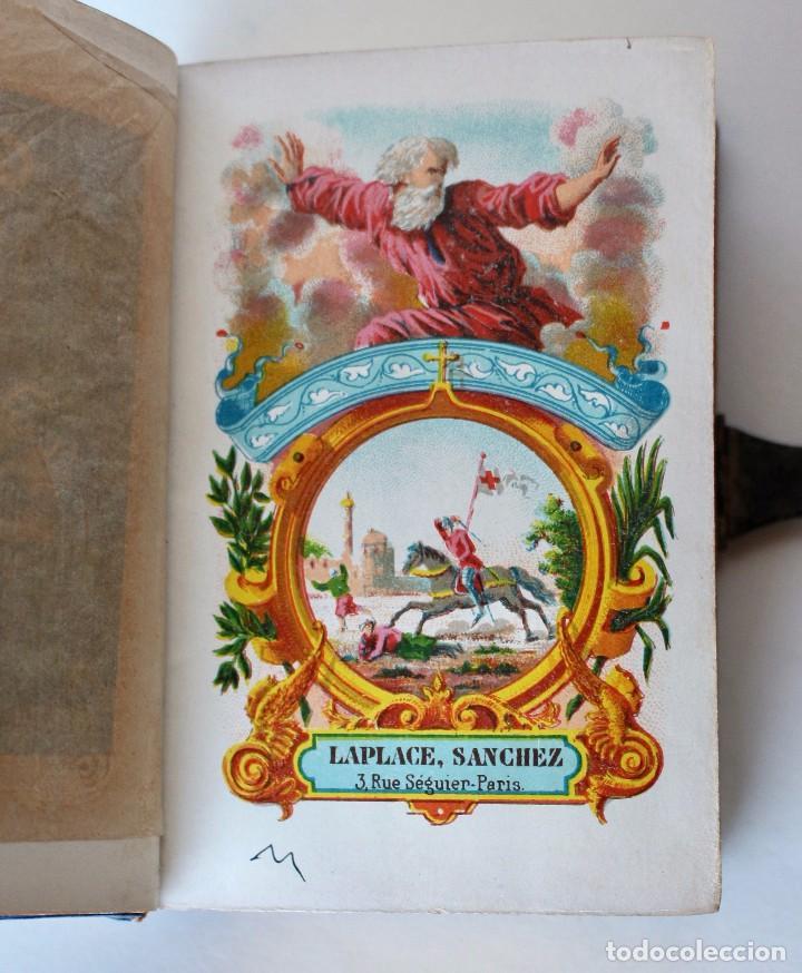 Antigüedades: OFICIO DIVINO PARA TODOS LOS DÍAS DE FIESTA Y DE PRECEPTO, EN LATIN Y CASTELLANO, NACAR PARIS 1869. - Foto 7 - 77248313