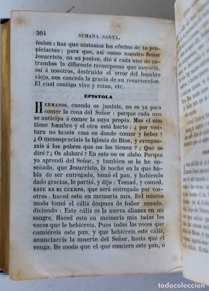 Antigüedades: OFICIO DIVINO PARA TODOS LOS DÍAS DE FIESTA Y DE PRECEPTO, EN LATIN Y CASTELLANO, NACAR PARIS 1869. - Foto 12 - 77248313