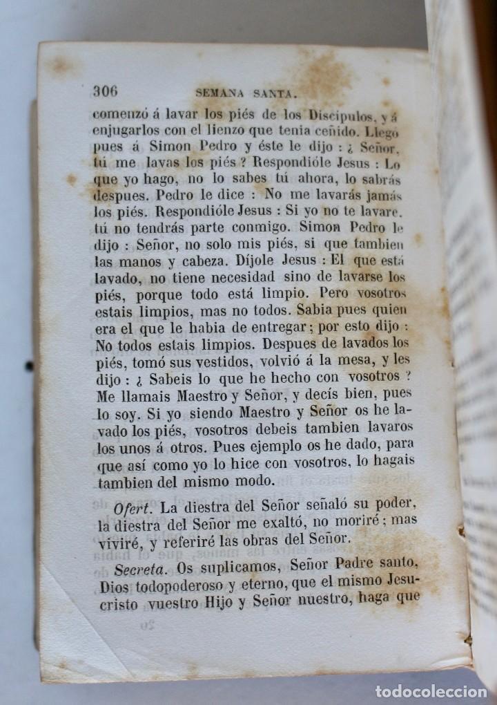 Antigüedades: OFICIO DIVINO PARA TODOS LOS DÍAS DE FIESTA Y DE PRECEPTO, EN LATIN Y CASTELLANO, NACAR PARIS 1869. - Foto 13 - 77248313