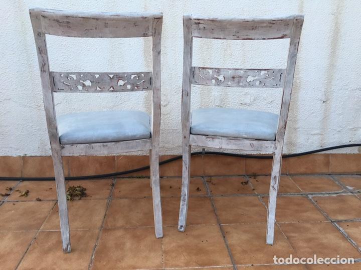 Lote de 2 sillas clasicas de madera restauradas comprar - Sillas antiguas restauradas ...