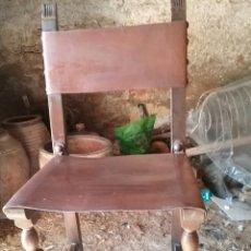 Antigüedades: SILLAS DE CUERO 6. Lote 77266994
