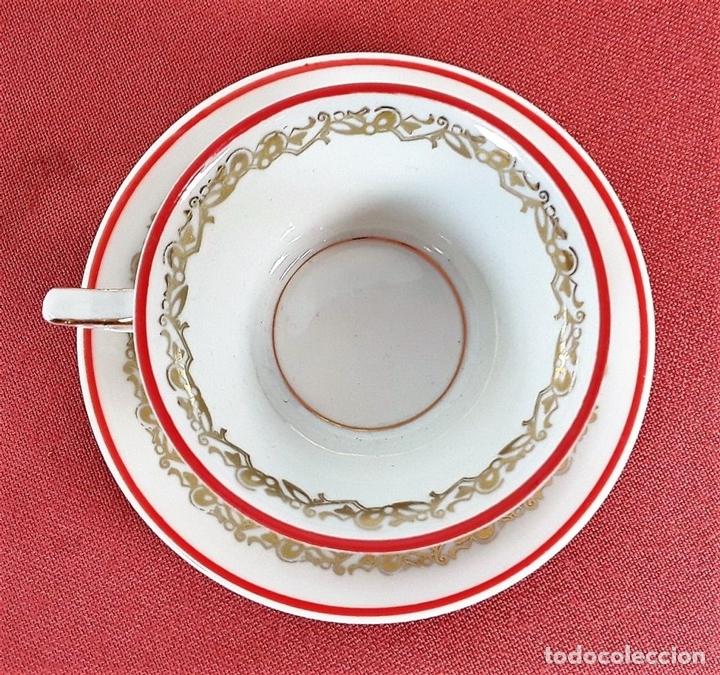 Antigüedades: JUEGO DE CAFÉ. PORCELANA. ESMALTADA. JÄGER. ALEMANIA. CIRCA 1950. - Foto 14 - 77283021