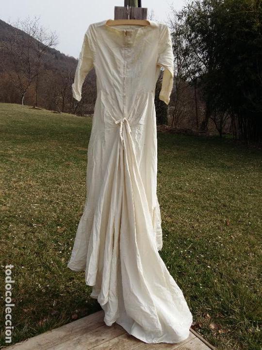 excepcional vestido de novia vintage en saten d - comprar en