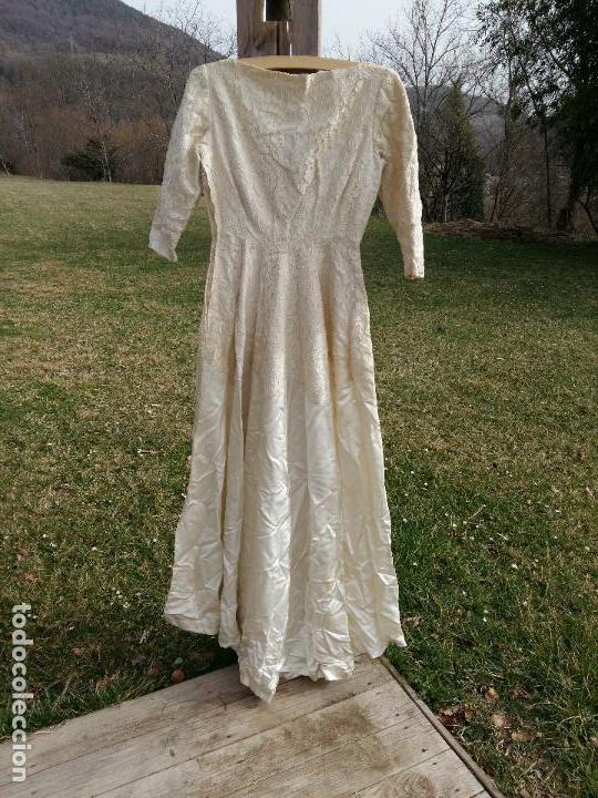 muy antiguo vestido de novia vintage con cuerpo - comprar en
