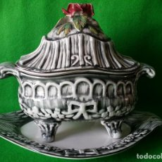 Antigüedades: SOPERA DE PORCELANA VIDRIADA. Lote 77353173