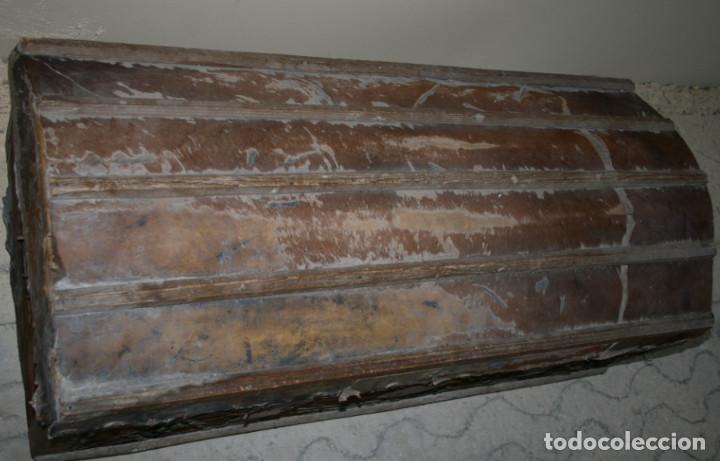 Antigüedades: BAUL ANTIGUO FORRADO DE PIEL, SIGLO XIX, PARA RESTAURAR, ESPECIAL DECORACION - Foto 8 - 77378161