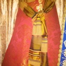 Antigüedades: PRECIOSO FAJIN CINTURILLA PARA VESTIMENTA VIRGEN HEBREA TAMAÑO NATURAL CON FLECOS MAS DE 4 METROS - . Lote 77398705