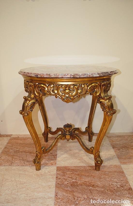 Mesa velador antigua tallada estilo luis xv comprar - Mesas antiguas ...