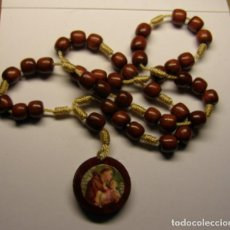 Antigüedades: SENCILLO ROSARIO DE MADERA. DE SAN ANTÓN.. Lote 77454749