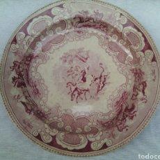 Antigüedades: PLATO BANDEJA CERAMICA LA AMISTAD CARTAGENA.ROJA.. Lote 77463119
