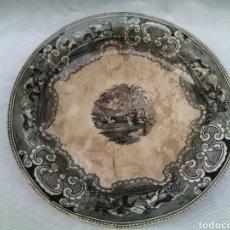 Antigüedades: GRAN PLATO FUENTE CERAMICA LA AMISTAD CARTAGENA 43 CM.. Lote 77463334