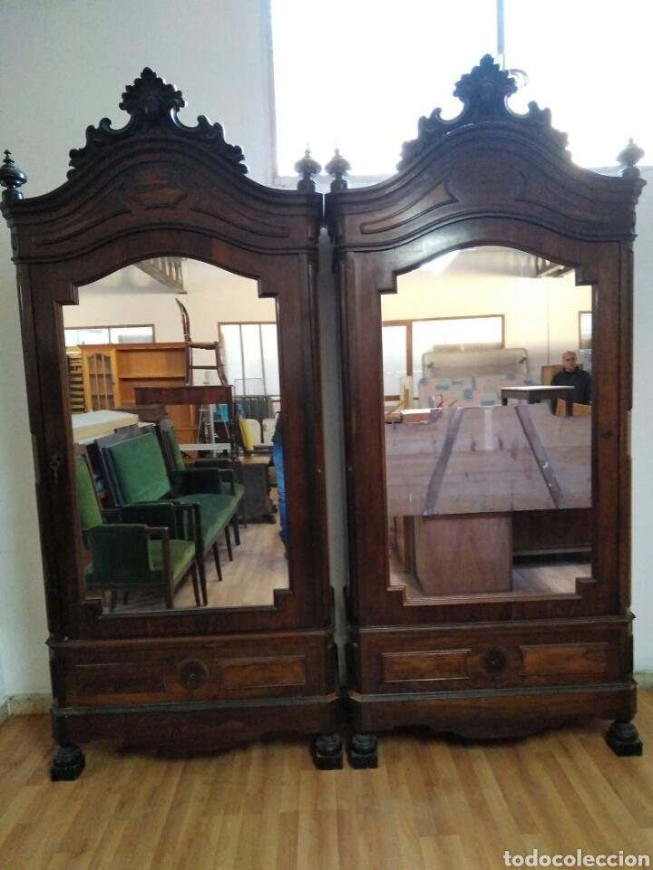 Pareja roperos isabelinos comprar armarios antiguos en - Armarios roperos antiguos ...