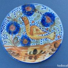 Antigüedades: IMPECABLE PLATO ANTIGUO EN CERAMICA DE RIBESALBES, CASTELLON. Lote 77531713