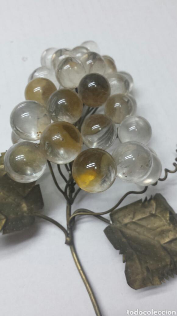 Antigüedades: Racimo de uva en cristal de Murano y bronce - Foto 3 - 77569334