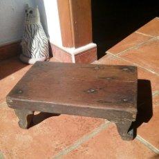 Antigüedades: BANQUETA REPOSAPIES SIGLO XIX. Lote 77593861