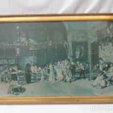 Antigüedades: BONITO MARCO CON LÁMINA DE MARIANO FORTUNY.. Lote 77637409