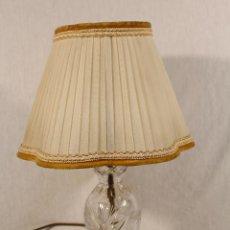 Antigüedades: LAMPARA DE SOBREMESA EN CRISTAL TALLADO. Lote 77671753