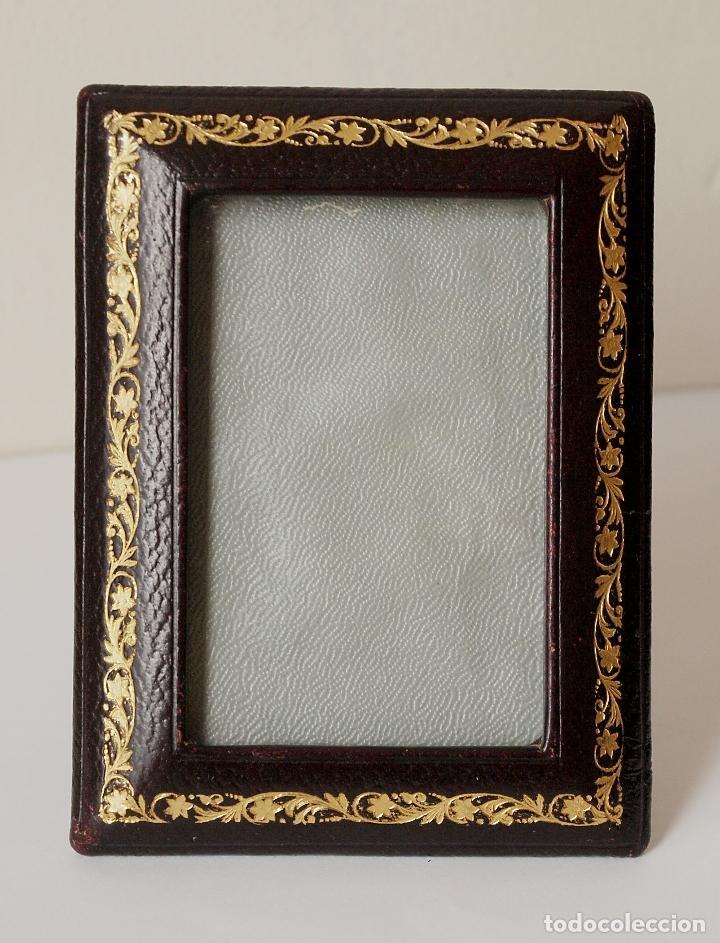 marco de fotos de piel y cristal. 8,3 x 11 cm, - Comprar Marcos ...
