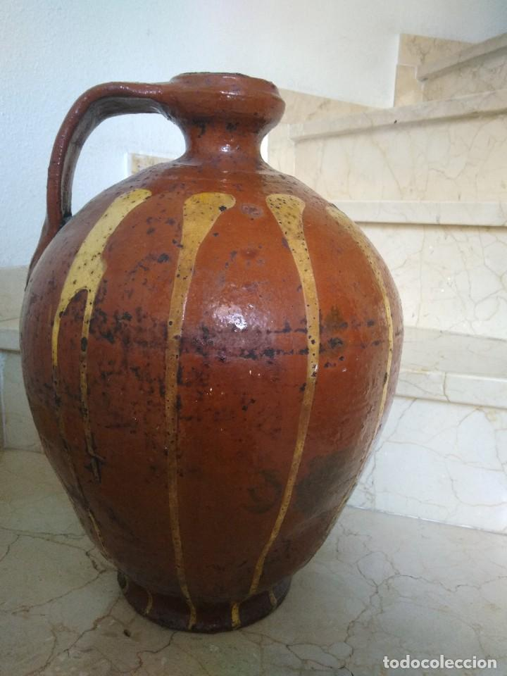 CÁNTARO DE CERÁMICA DE SALVATIERRA DE LOS BARROS. MUY ANTIGUO. 44 CM DE ALTURA. (Antigüedades - Porcelanas y Cerámicas - Otras)