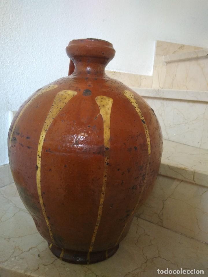 Antigüedades: CÁNTARO DE CERÁMICA DE SALVATIERRA DE LOS BARROS. MUY ANTIGUO. 44 cm de altura. - Foto 2 - 77739469