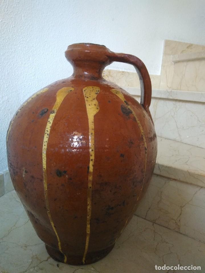 Antigüedades: CÁNTARO DE CERÁMICA DE SALVATIERRA DE LOS BARROS. MUY ANTIGUO. 44 cm de altura. - Foto 3 - 77739469